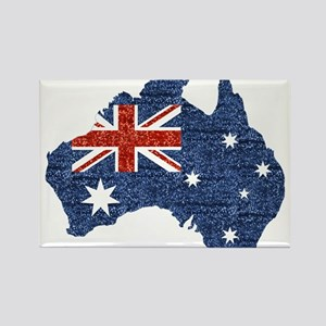 sequin australian flag Magnets