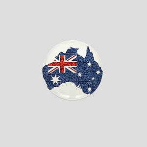 sequin australian flag Mini Button