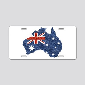 sequin australian flag Aluminum License Plate