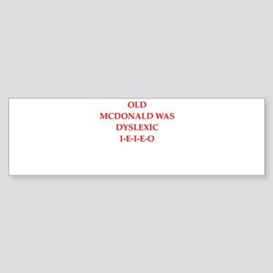 dyslexic Bumper Sticker