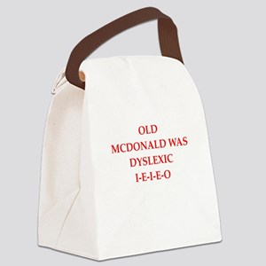 dyslexic Canvas Lunch Bag