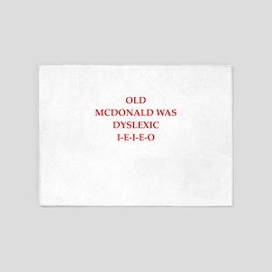 dyslexic 5'x7'Area Rug