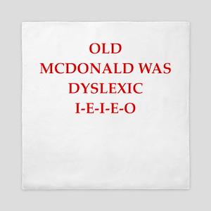 dyslexic Queen Duvet