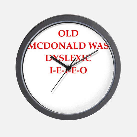 dyslexic Wall Clock
