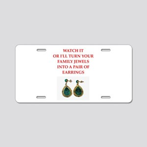 family jewels Aluminum License Plate