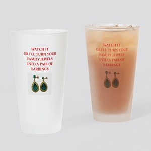family jewels Drinking Glass
