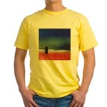 62.rainbow serpent.. Yellow T-Shirt
