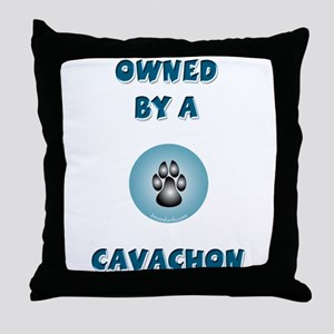 Owned by a Cavachon Throw Pillow