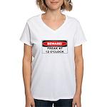 Beware freak at 12 Women's V-Neck T-Shirt