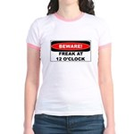 Beware freak at 12 Jr. Ringer T-Shirt