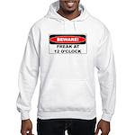 Beware freak at 12 Hooded Sweatshirt