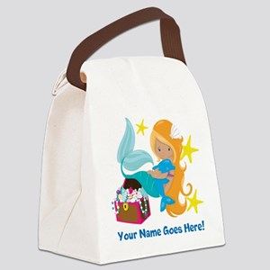 Blond Mermaid Canvas Lunch Bag