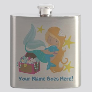 Blond Mermaid Flask