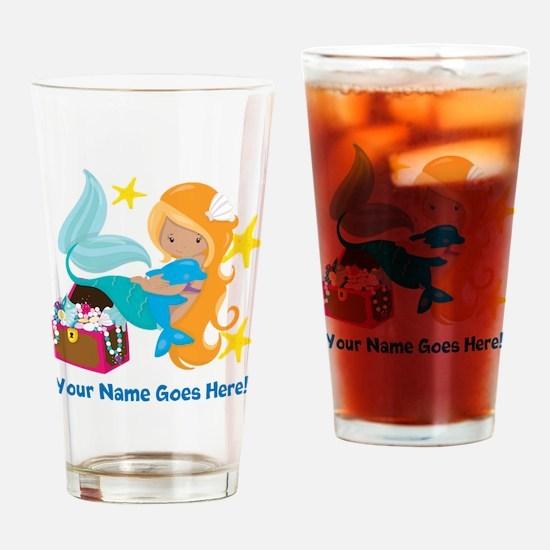Blond Mermaid Drinking Glass