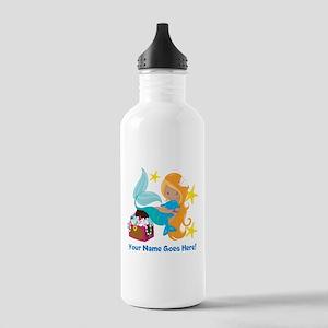 Blond Mermaid Water Bottle