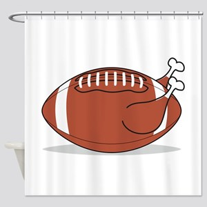 Football Turkey Shower Curtain