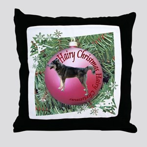 Siberian Husky Sled Dog Hairy Christmas Throw Pill