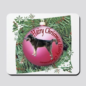 Siberian Husky Sled Dog Hairy Christmas Mousepad