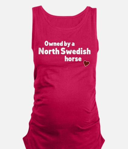 North Swedish horse Maternity Tank Top
