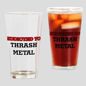 Addicted to Thrash Metal Drinking Glass