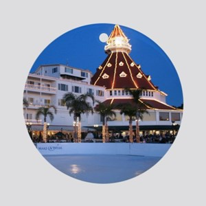 Hotel Del Coronado Holiday Ornament (Round)
