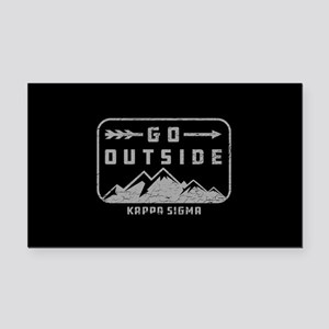 Kappa Sigma Outside Rectangle Car Magnet