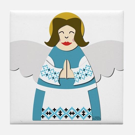 Ukrainian Angel Tile Coaster