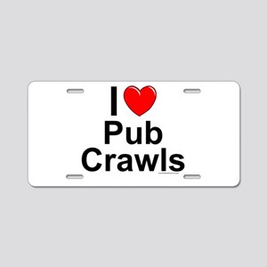Pub Crawls Aluminum License Plate