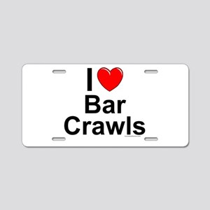 Bar Crawls Aluminum License Plate