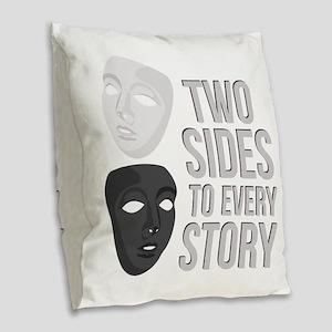 Two Sides Burlap Throw Pillow