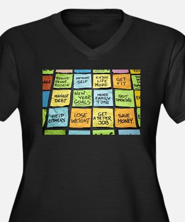 The words Plus Size T-Shirt
