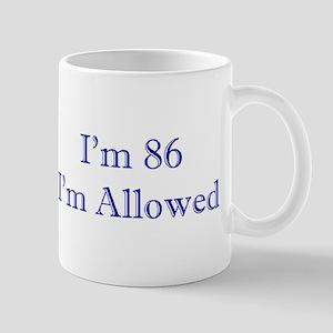 86 I'm Allowed 3 Dk Blue Mugs