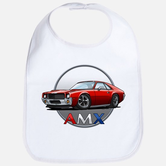 AMC_AMX_red Baby Bib
