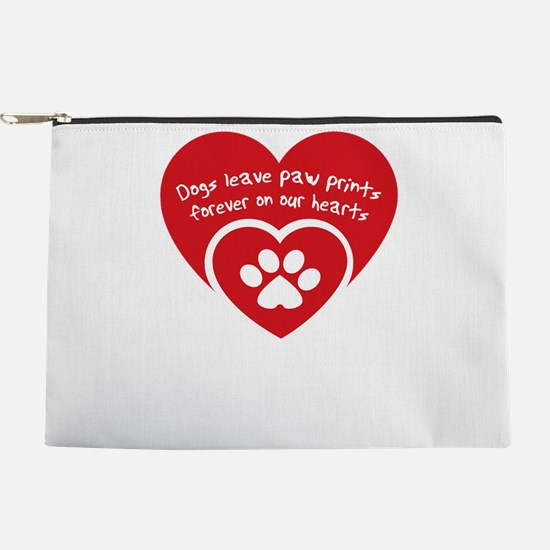 dogs leave paw prints forever on uor he Makeup Bag
