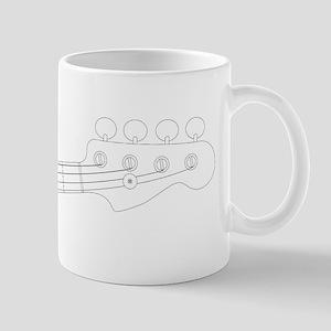 Bass Headstock Outline Mugs