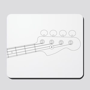 Bass Headstock Outline Mousepad