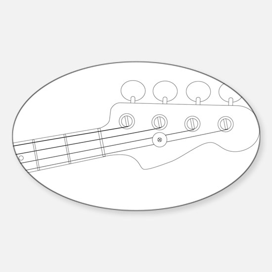Bass Headstock Outline Decal