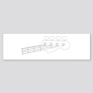 Bass Headstock Outline Bumper Sticker