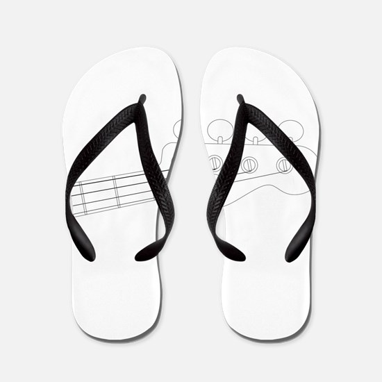 Bass Headstock Outline Flip Flops
