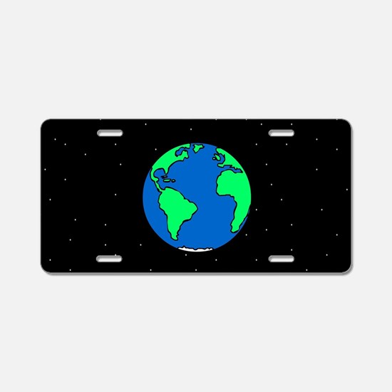 Earth And Stars Aluminum License Plate