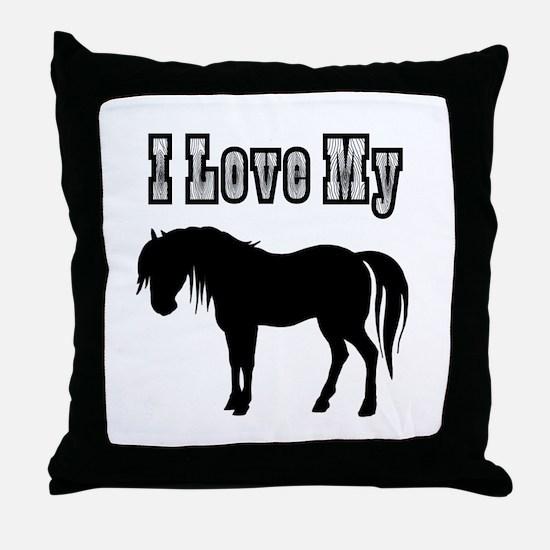 Love My Pony Throw Pillow
