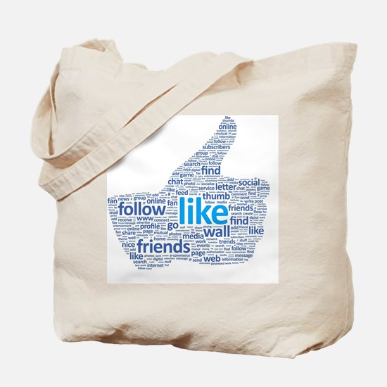Cute Social media Tote Bag