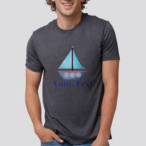Customizable Blue Sailboat T-Shirt