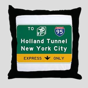 Holland Tunnel-New York City, NJTP Throw Pillow