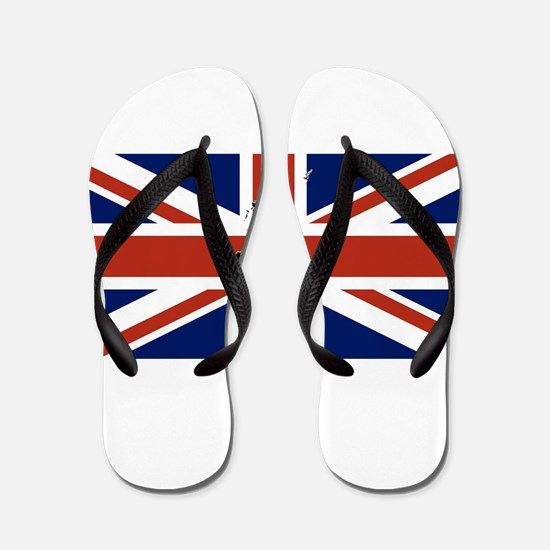 UK Silhouette and Flag Flip Flops