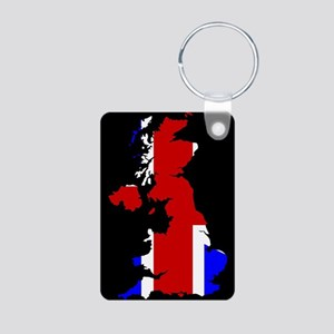 UK Flag and Silhouette Keychains