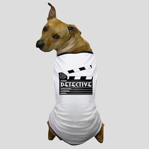 Detective Movie Clapperboard Dog T-Shirt