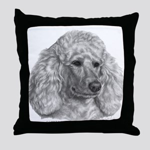 Holly, Standard Poodle Throw Pillow