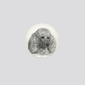 Holly, Standard Poodle Mini Button