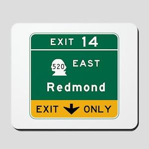 Redmond, WA Road Sign Mousepad